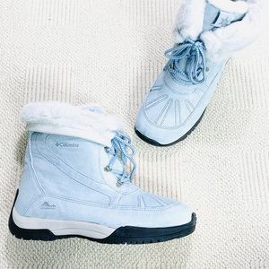 NEW Columbia Waterproof Snow Boots Baby Blue SZ 10